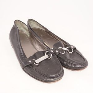 Coach black leather 'Eileen' style Loafers, Size 9